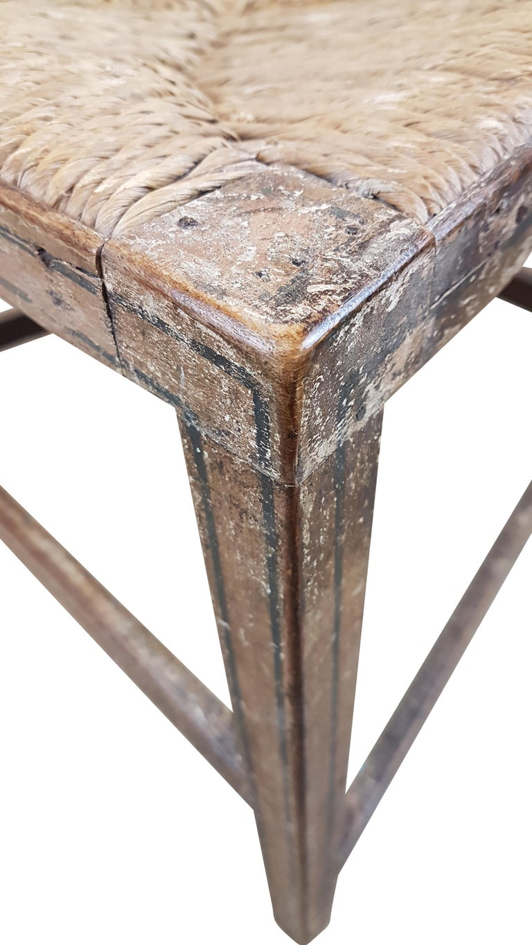 Early 19th Century Georgian Chair in Original Painted Decoration In Distressed Condition For Sale In Bodicote, Oxfordshire