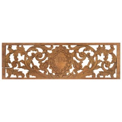Early 19th Century Indonesian Architectural Transom Panel with Carved Foliage