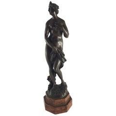 Early 19th Century Italian Bronze Sculpture 'Venere Bather'