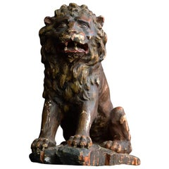 Early 19th Century Italian Carved Lion Figure