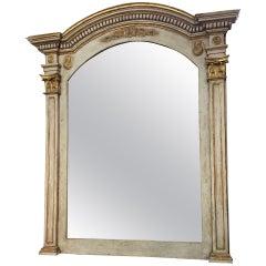 Early 19th Century Italian Grand Scale Altar Fragment Mirror