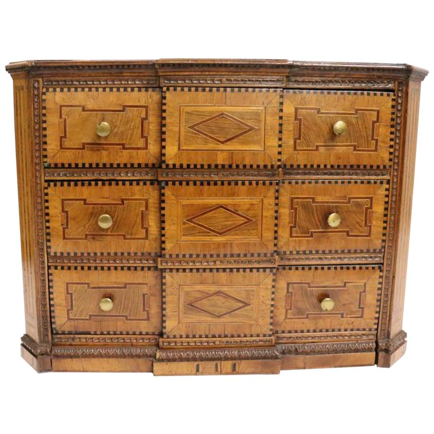 Early 19th Century Italian Neoclassical Fruitwood Jewelry or Silver Chest