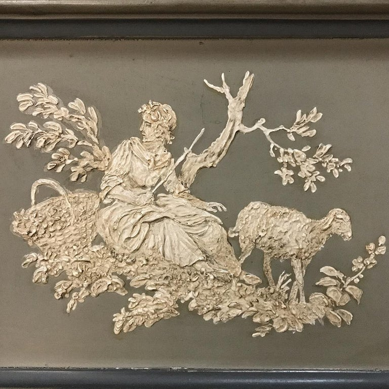 Early 19th Century Italian Neoclassical Painted Armoire In Good Condition For Sale In Dallas, TX