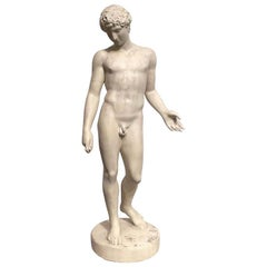 Early 19th Century Italian Neoclassical Plaster Sculpture of Antinous