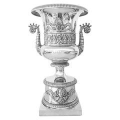 Early 19th Century Italian Neoclassical Silver Urn Vase Milan by Emanuele Caber