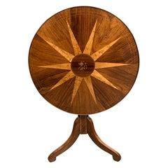 Early 19th century Italian rosewood and birdseye maple tilt top table