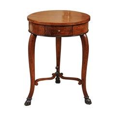 Early 19th Century Italian Walnut and Ebonized Gueridon Side Table