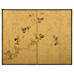 Early 19th Century Japanese Screen, Kudzu Vine by Sakai Hoitsu, Rinpa School