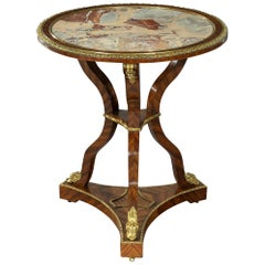 Early 19th Century Kingwood & Ormulo Mounted Marble Top Centre Table