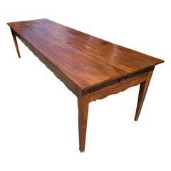 Early 19th Century Large Cherry Farmhouse Table