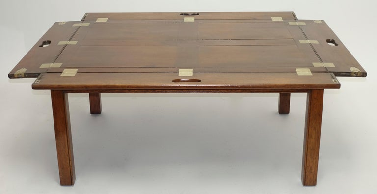 Early 19th Century Large Mahogany Butlers Tray on Stand For Sale 3