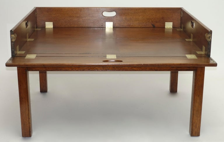 Early 19th Century Large Mahogany Butlers Tray on Stand For Sale 4