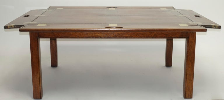 Early 19th Century Large Mahogany Butlers Tray on Stand For Sale 5