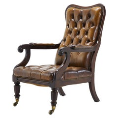 Early 19th Century Leather Chair