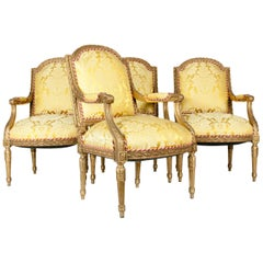 Early 19th Century Louis XVI Style Four Fauteuils