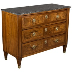 Early 19th Century Louis XVI Style Marquetry Commode