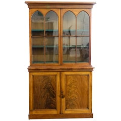 Early 19th Century Mahogany Bookcase in the Gothic Style