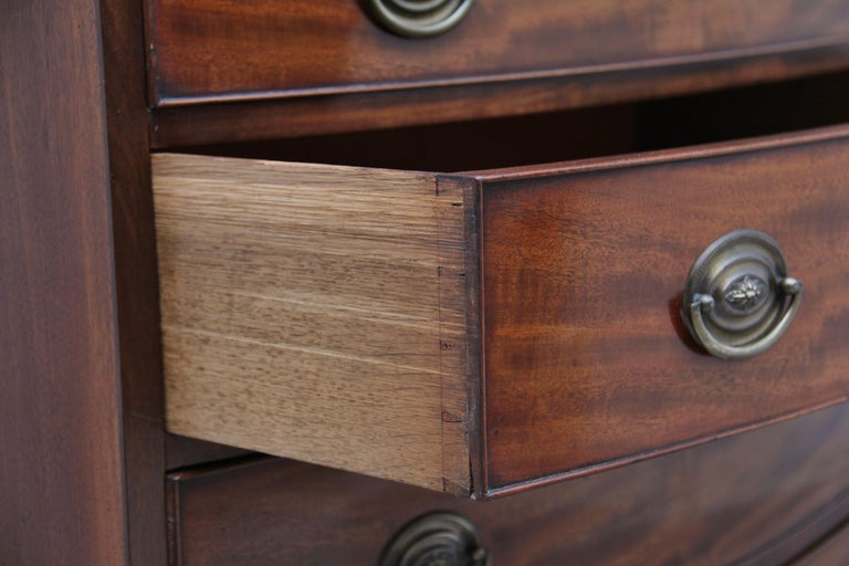 Early 19th Century Mahogany Bow Front Chest For Sale 5