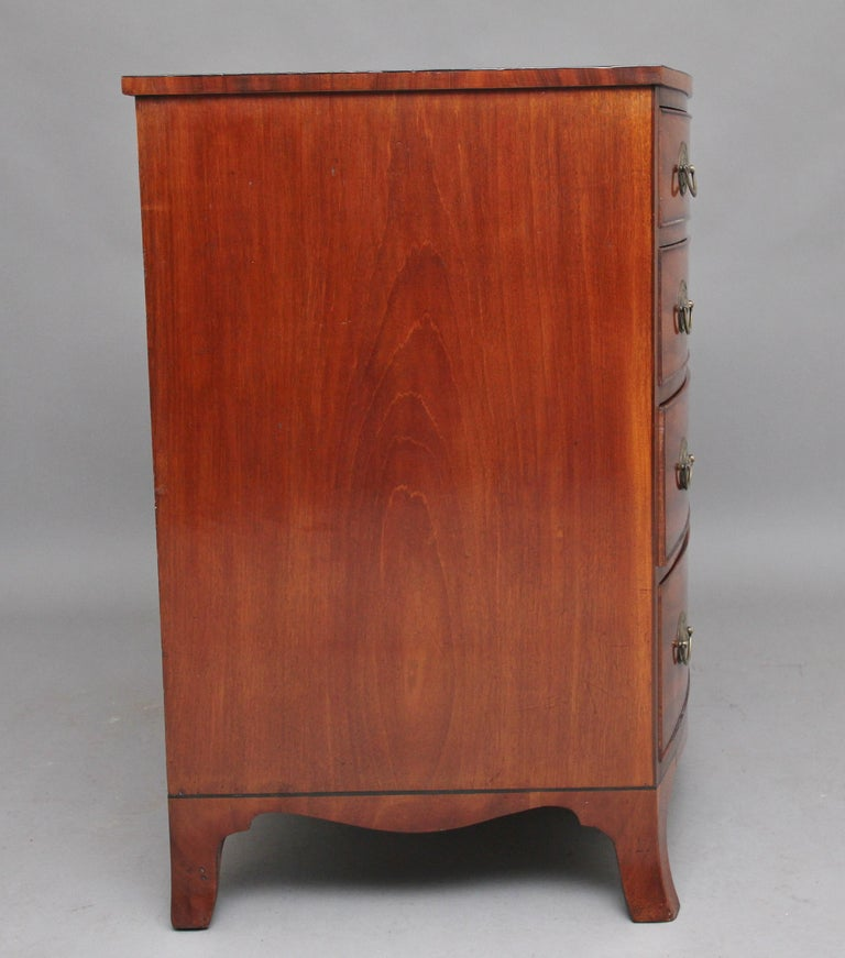 British Early 19th Century Mahogany Bow Front Chest For Sale