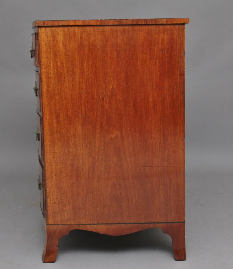 Early 19th Century Mahogany Bow Front Chest For Sale 1