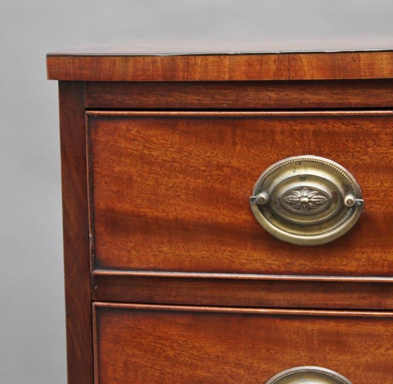 Early 19th Century Mahogany Bow Front Chest For Sale 4