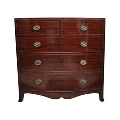 Early 19th Century Mahogany Bowfront Chest of Drawers