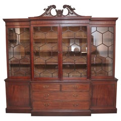 Early 19th Century Mahogany Breakfront Bookcase