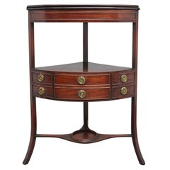 Early 19th Century Mahogany Corner Wash Stand