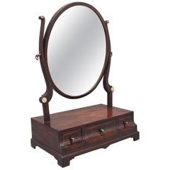 Early 19th Century Mahogany Dressing Mirror