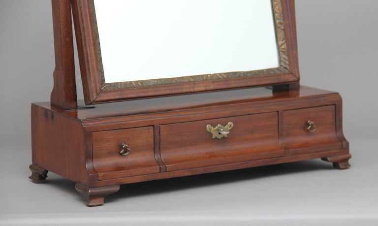 Georgian Early 19th Century Mahogany Dressing Table For Sale