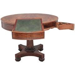 Early 19th Century mahogany drum table