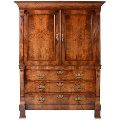 Early 19th Century Mahogany Dutch Empire Cabinet
