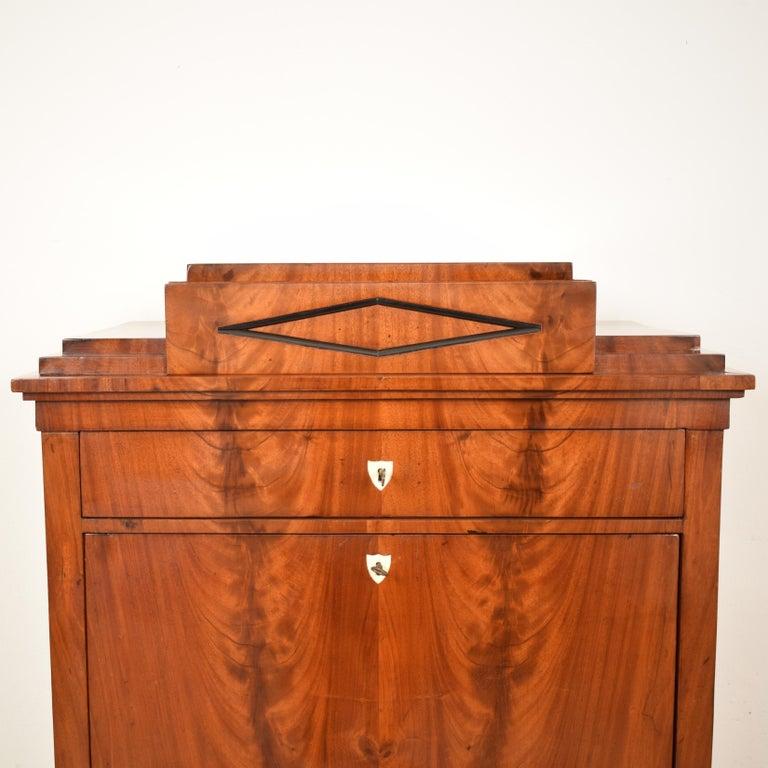 Veneer Early 19th Century Mahogany Empire Secretary For Sale