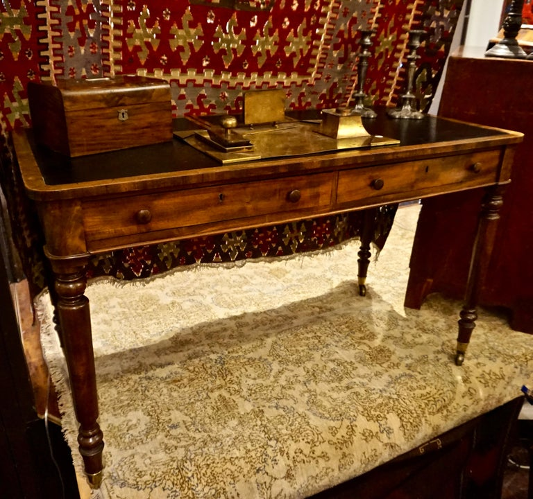 Solid mahogany writing desk handmade in England by the esteemed