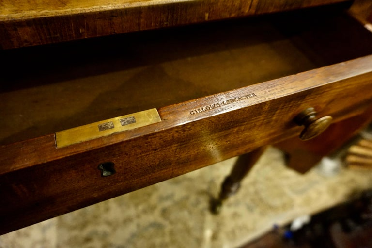 Early 19th Century Mahogany Gillows Lancaster Writing Desk on Casters For Sale 1