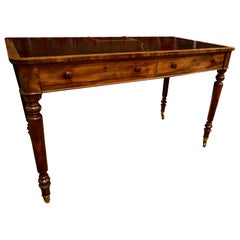 Early 19th Century Mahogany Gillows Lancaster Writing Desk on Casters