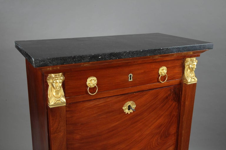 Early 19th Century Mahogany Secretary Desk Empire Period For Sale 4