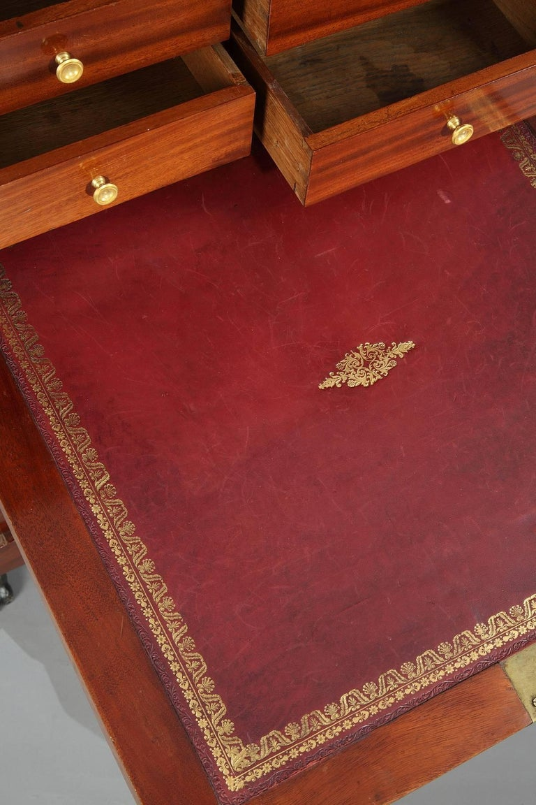 Early 19th Century Mahogany Secretary Desk Empire Period In Good Condition For Sale In Paris, FR