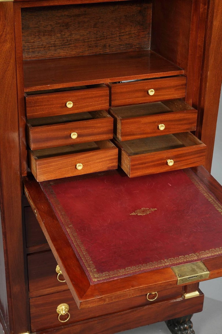 Early 19th Century Mahogany Secretary Desk Empire Period For Sale 3