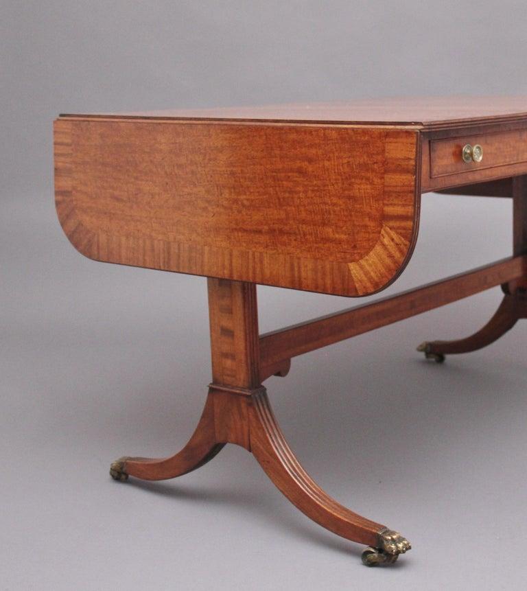 Early 19th Century Mahogany Sofa Table For Sale 6