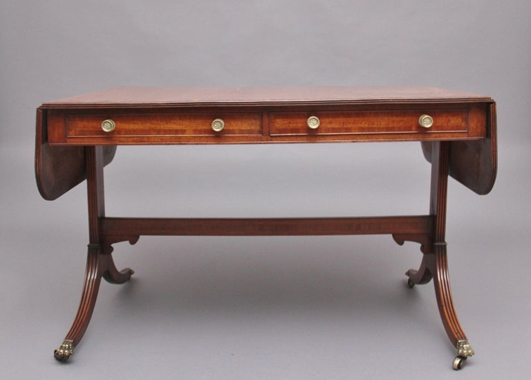 British Early 19th Century Mahogany Sofa Table For Sale