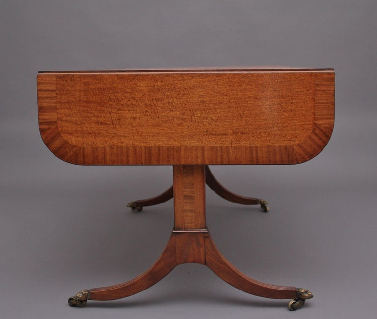 Early 19th Century Mahogany Sofa Table In Good Condition For Sale In Martlesham, GB