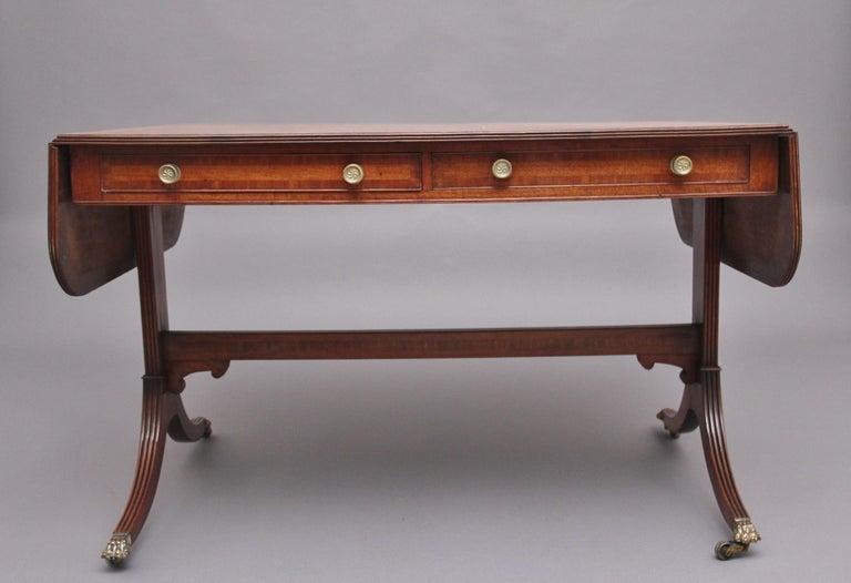 Early 19th Century Mahogany Sofa Table For Sale 1