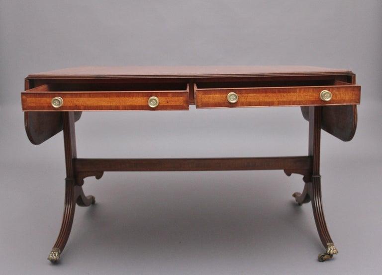 Early 19th Century Mahogany Sofa Table For Sale 2