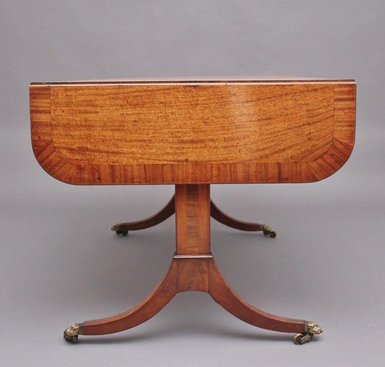 Early 19th Century Mahogany Sofa Table For Sale 4