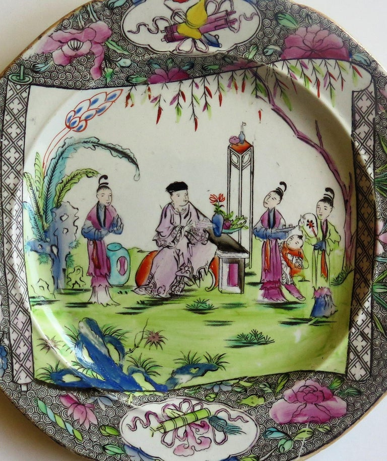 Early 19th Century Mason's Ironstone Dinner Plate in Chinese Scroll Pattern For Sale 7