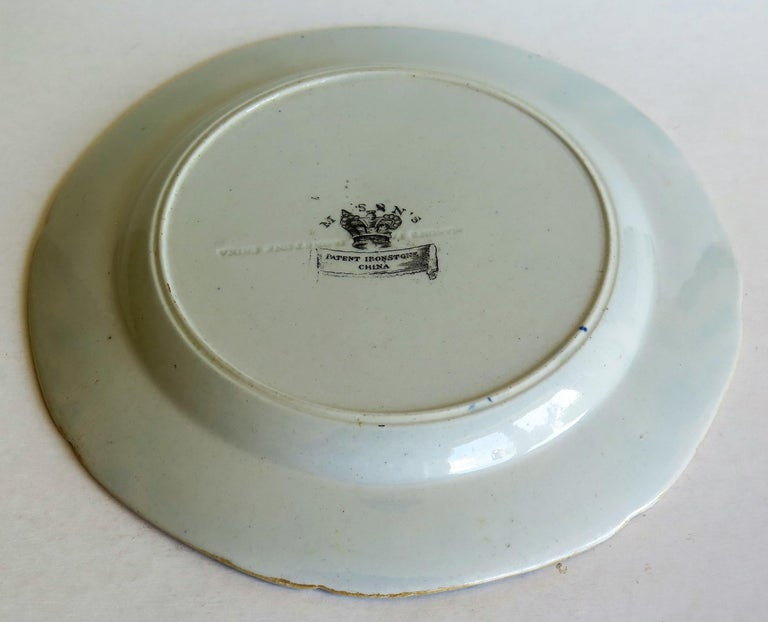 Early 19th Century Mason's Ironstone Dinner Plate in Chinese Scroll Pattern For Sale 10