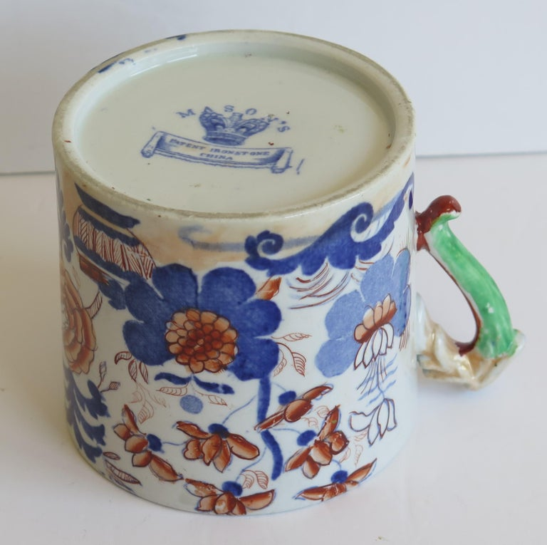 Early 19th Century Mason's Ironstone Mug in Basket Japan Pattern, circa 1820 For Sale 6