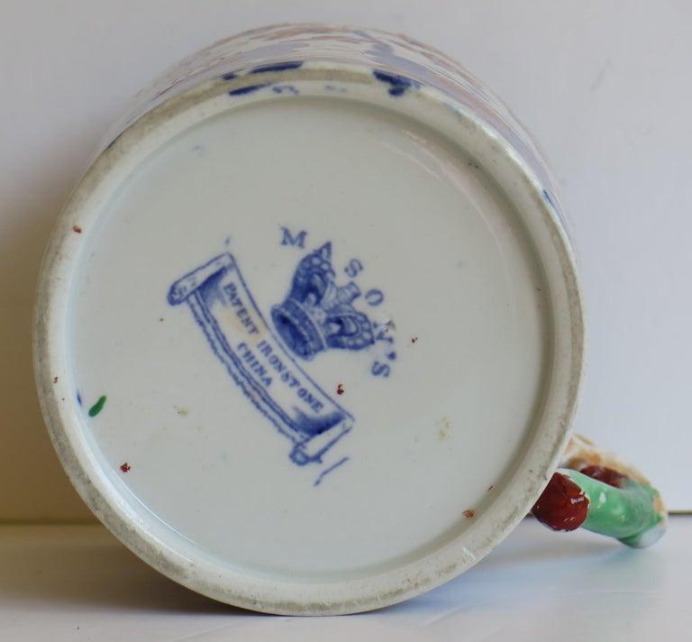 Early 19th Century Mason's Ironstone Mug in Basket Japan Pattern, circa 1820 For Sale 8