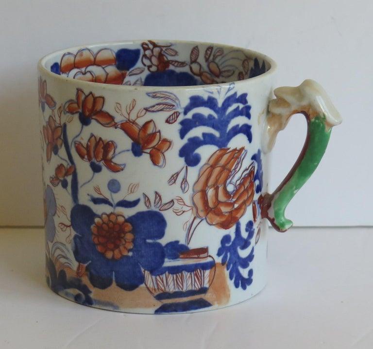 Early 19th Century Mason's Ironstone Mug in Basket Japan Pattern, circa 1820 For Sale 2